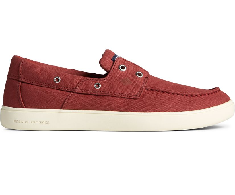 Outer Banks 2-Eye Canvas Boat Shoe, Red, dynamic