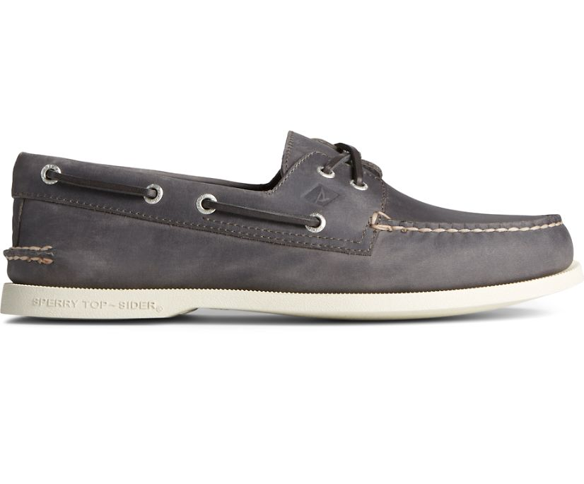 Authentic Original 2-Eye Cross Lace Boat Shoe, Grey, dynamic