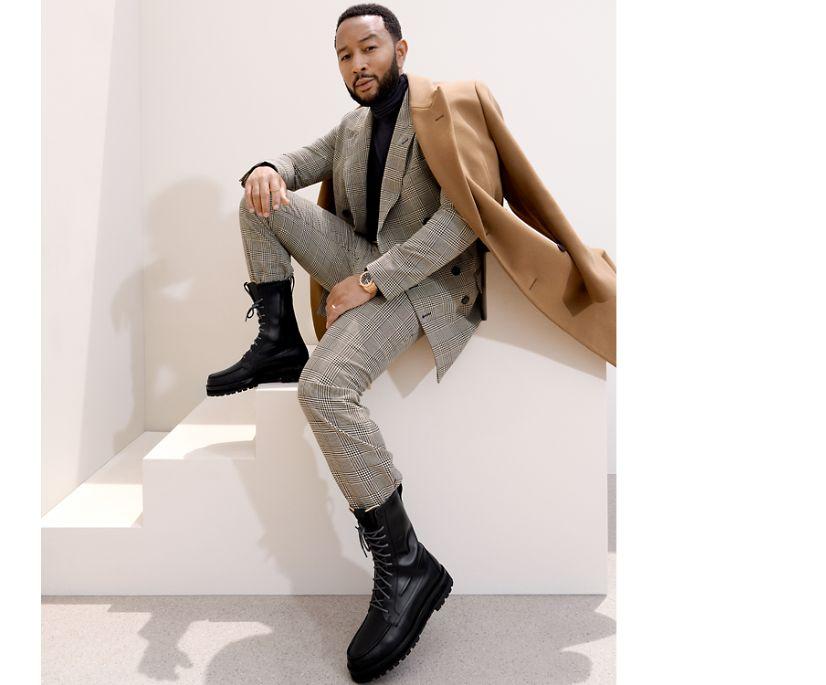 Sperry x John Legend Authentic Original Vibram Lug Boot, Black, dynamic