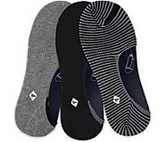 Boat Shoe 3-Pack Canoe Liner Sock, Black / Charcoal Stripe, dynamic