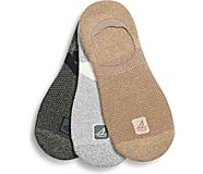 Sneaker 3-Pack Liner Sock, Pine Bark Assorted, dynamic