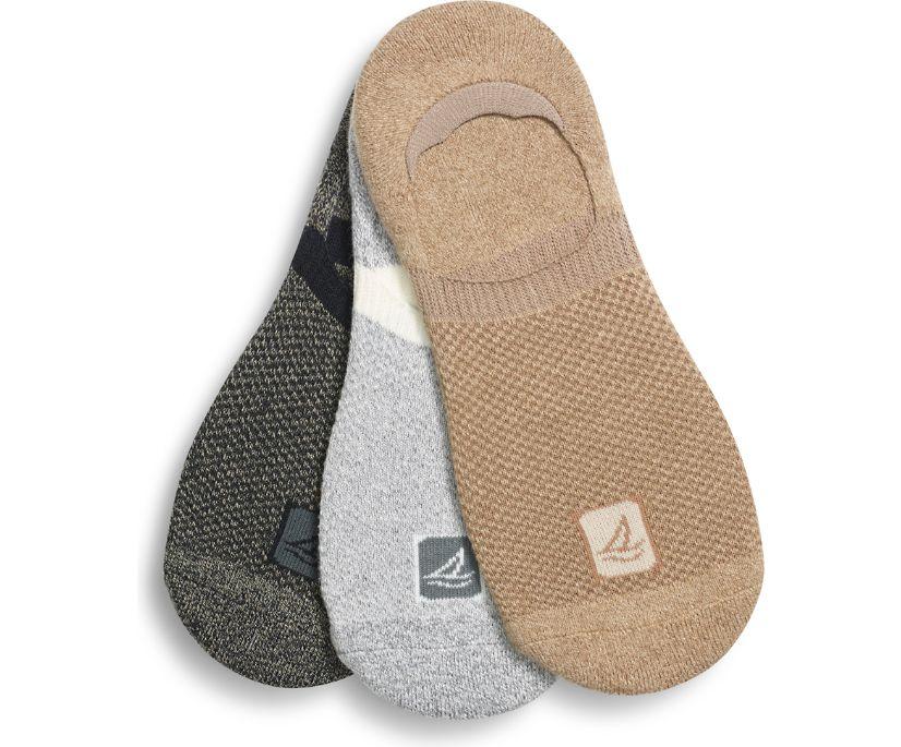 Sneaker 3-Pack Liner Sock, Pine Bark Assorted, dynamic