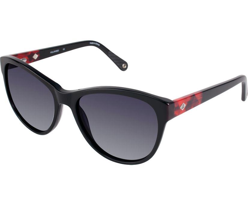 Oceanside Polarized Sunglasses, Black, dynamic