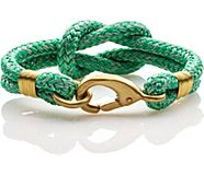 Rope Knot Hook Bracelet, Green, dynamic