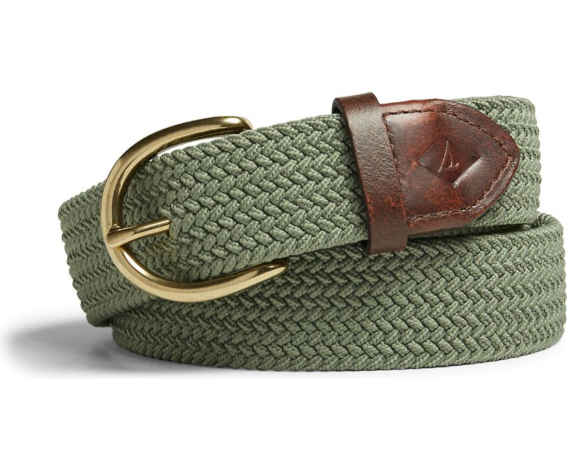 Webbing Belt, Olive, dynamic