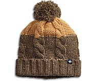 Two Tone Marl Cable Beanie, Olive, dynamic