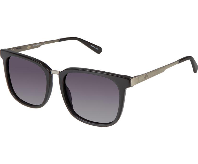 Newburyport Polarized Sunglasses, Black, dynamic