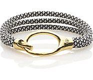Parachute Cord Bracelet, Black/White, dynamic