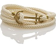Brass Anchor Multi Wrap Bracelet, Natural, dynamic