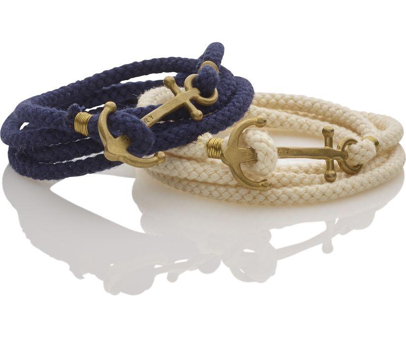 Brass Anchor Multi Wrap Bracelet, Natural, dynamic