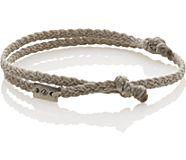Double Knot Rope Bracelet, Light Grey, dynamic