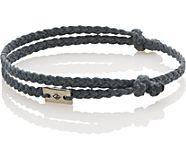 Double Knot Rope Bracelet, Grey, dynamic