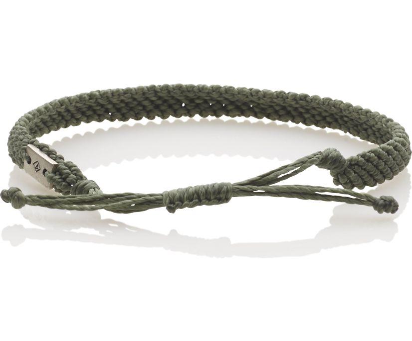 Single Knot Rope Bracelet, Olive, dynamic