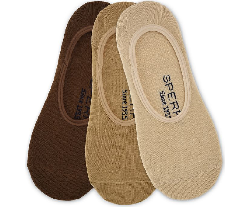 Canoe 3-Pack Liner Sock, Tan, dynamic