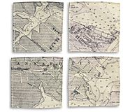 Sea Bags Annapolis Vintage Map Coasters, Annapolis, dynamic