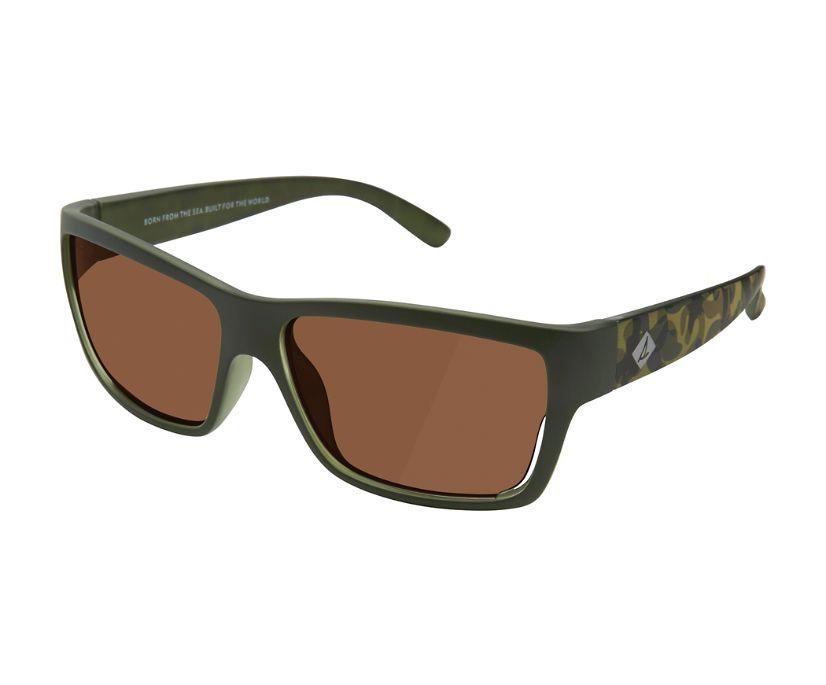 Seven Seas Polarized Sunglasses, Green, dynamic