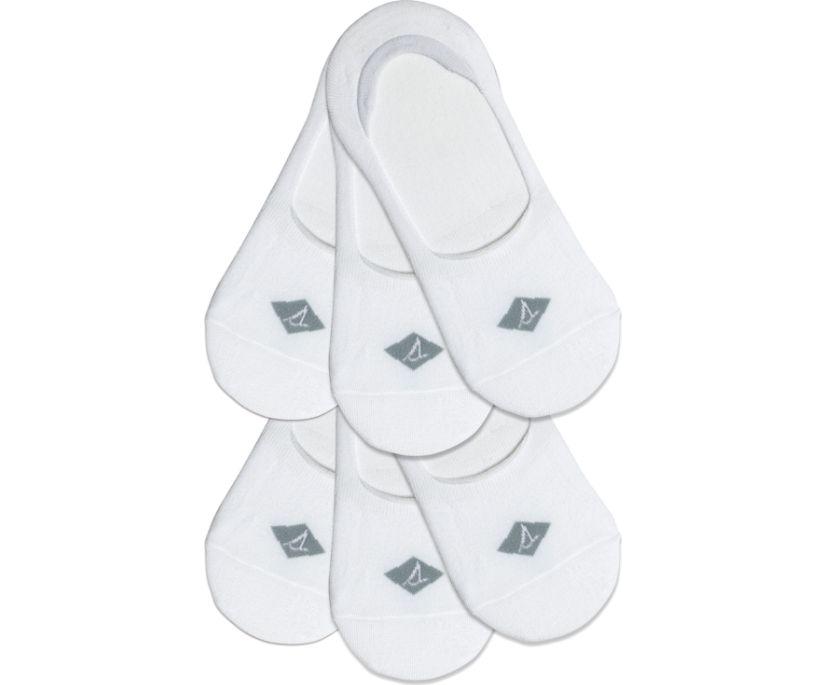 Sneaker Liner 6-Pack Sock, White, dynamic