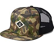 Camo Trucker Hat, Olive Multi, dynamic