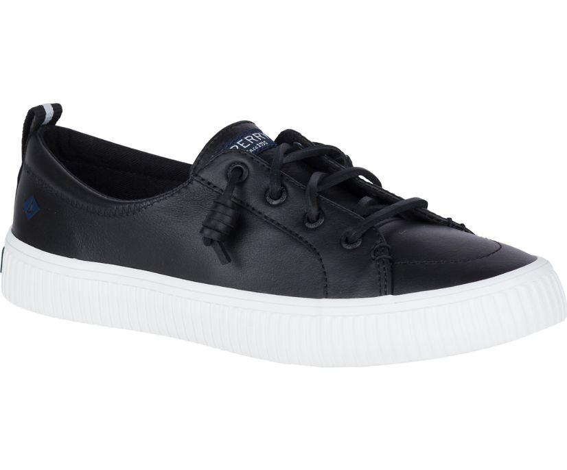 Crest Vibe Creeper Leather Sneaker, Black, dynamic