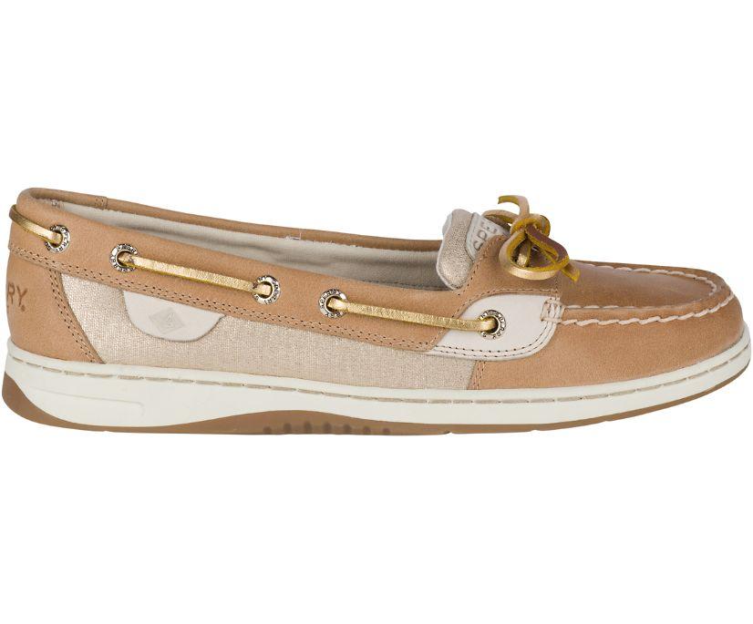 Angelfish Metallic Boat Shoe, Linen Metallic, dynamic