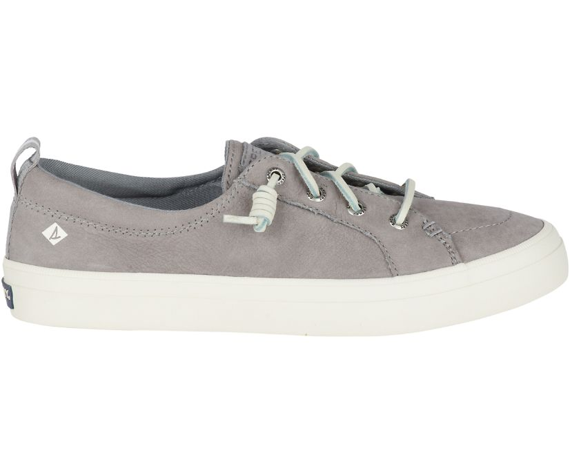 Crest Vibe Washable Leather Sneaker, Grey, dynamic