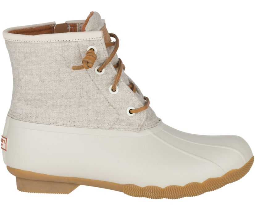 Saltwater Wool Embossed Duck Boot w/ Thinsulate™, Oat, dynamic