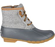 Saltwater Wool Embossed Duck Boot w/ Thinsulate™, Grey, dynamic