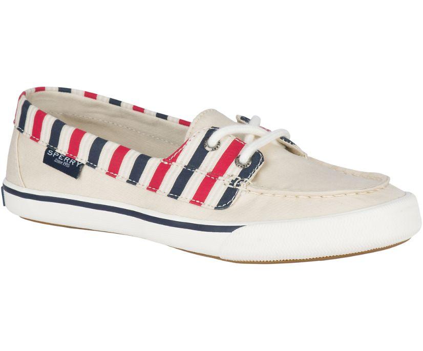 Lounge Away Stripe Sneaker, Natural/Red, dynamic
