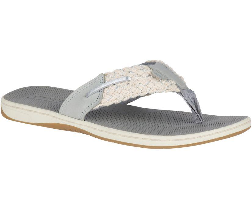 Parrotfish Thong Sandal, Light Grey/Silver, dynamic