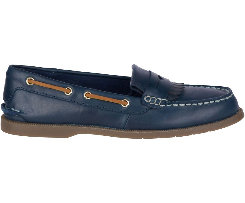 Conway Kiltie Boat Shoe, Navy, dynamic