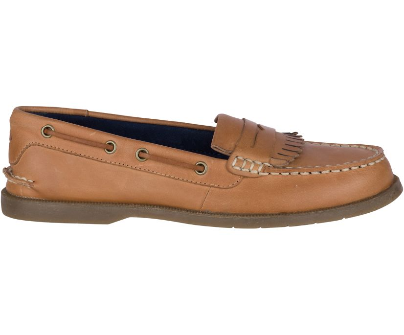 Conway Kiltie Boat Shoe, Tan, dynamic