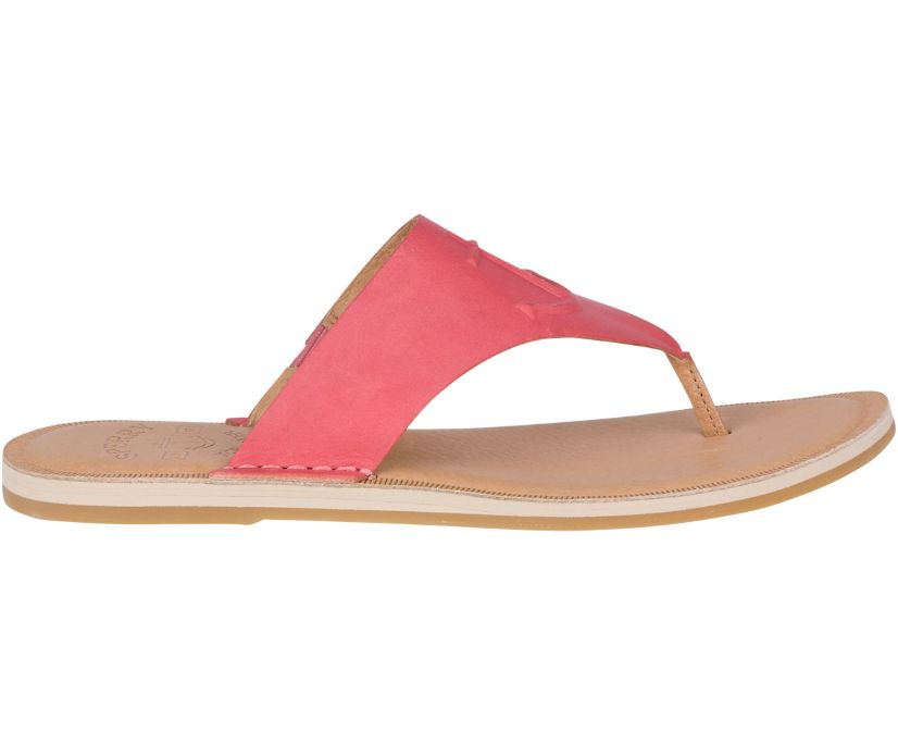Seaport Leather Sandal, Washed Red, dynamic