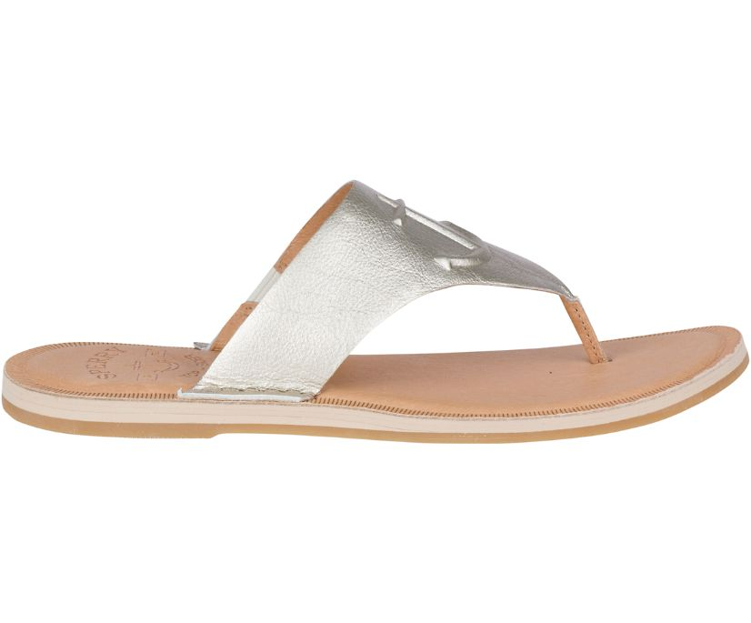 Seaport Leather Sandal, Platinum, dynamic
