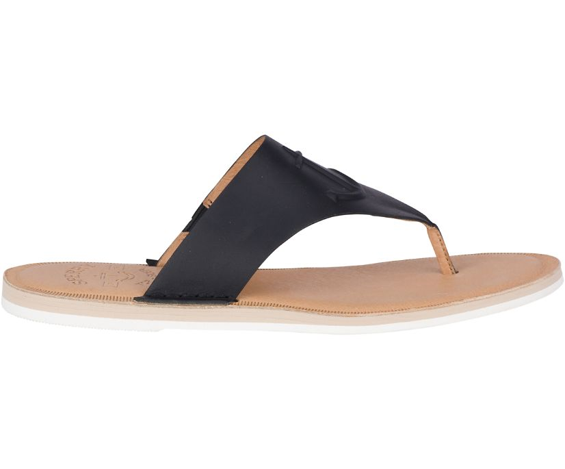 Seaport Leather Sandal, Black, dynamic