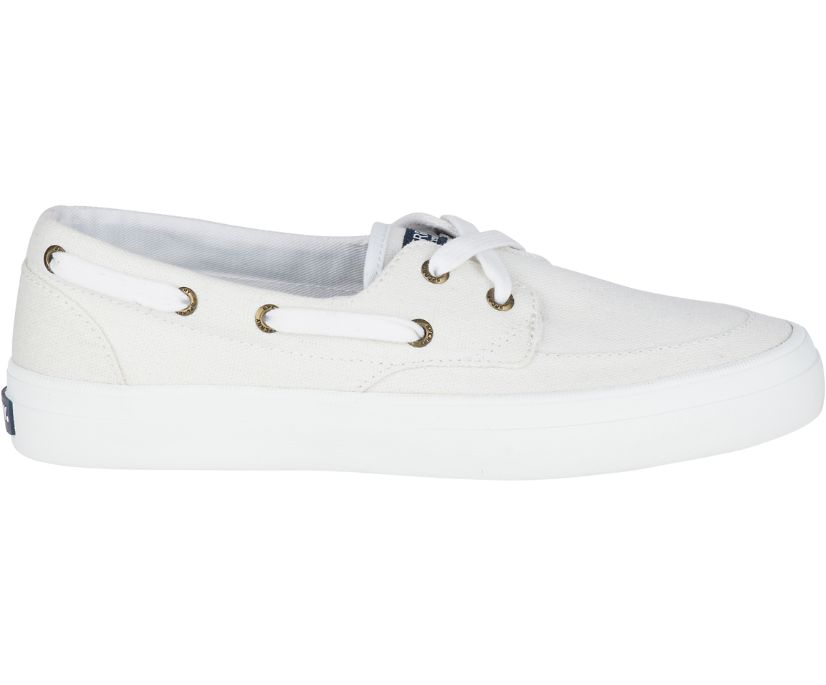 Crest Boat Shoe, White, dynamic