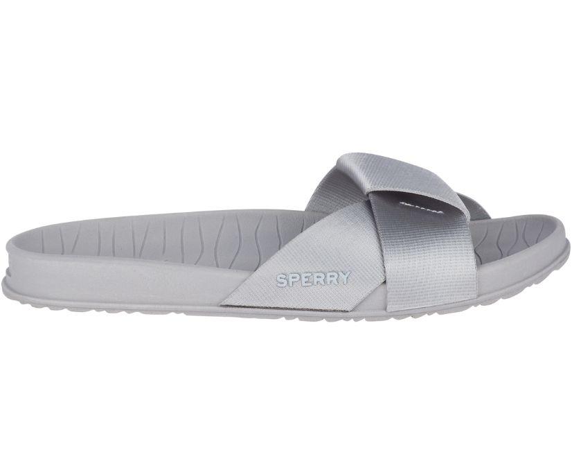Aloha Pool Slide Sandal, Grey, dynamic