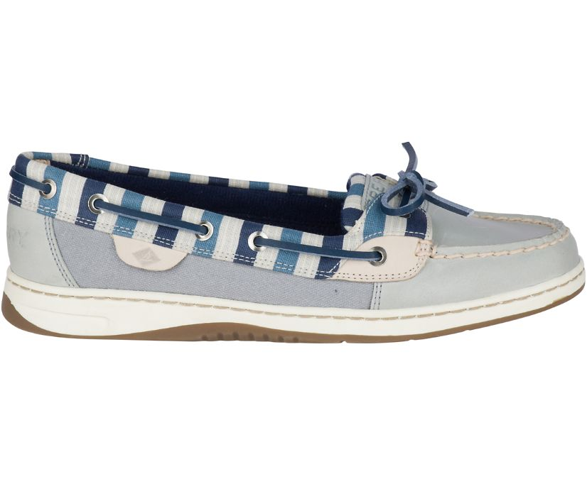 Angelfish Stripe Boat Shoe, Grey/Blue, dynamic