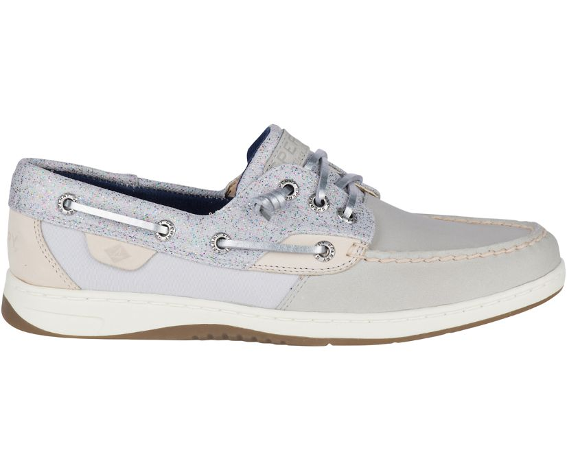 Rosefish Sparkle Boat Shoe, Grey, dynamic