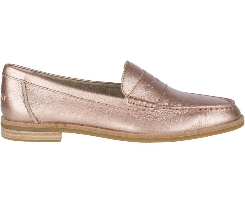 Seaport Penny Loafer, Rose Gold, dynamic