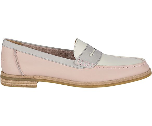 Seaport Tri Tone Penny Loafer, Blush/Ivory/Grey, dynamic