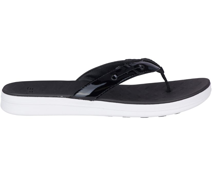 Adriatic Flip Flop, Black, dynamic