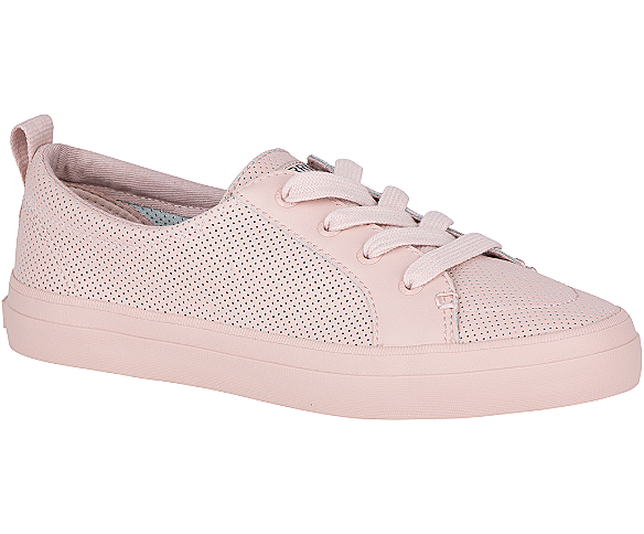Crest Vibe Mini Perforated Sneaker, Rose Dust, dynamic