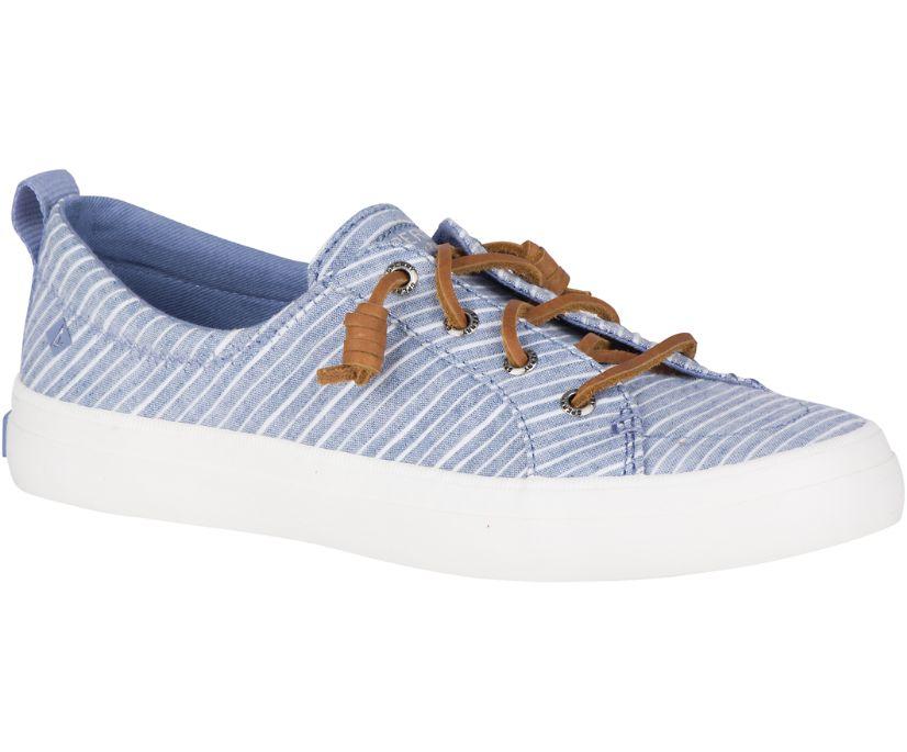 Crest Vibe Chambray Stripe Sneaker, Blue/White, dynamic