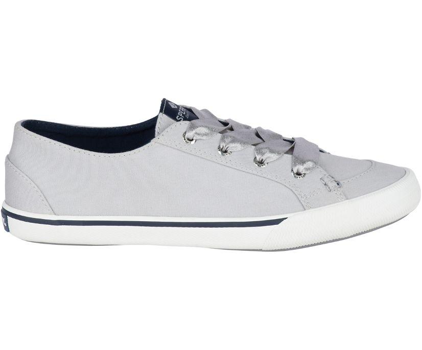 Lounge Satin Lace Sneaker, Grey, dynamic