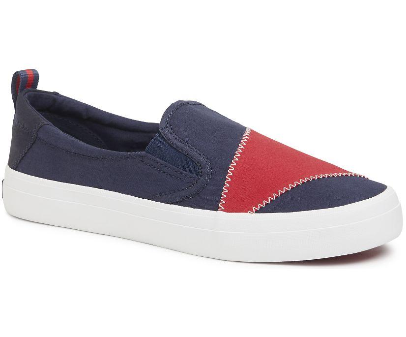 Crest Twin Gore BIONIC® Sneaker, Navy/Red, dynamic