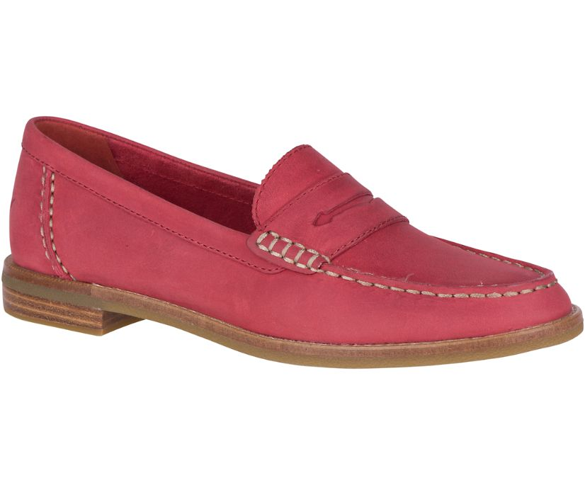 Seaport Penny Loafer, Red, dynamic