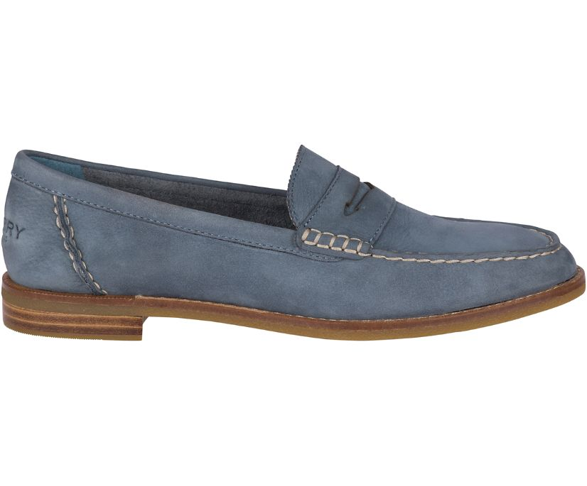 Seaport Penny Loafer, Slate Blue, dynamic