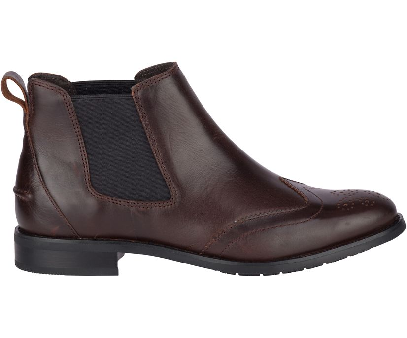 Fairpoint Leather Chelsea Boot, Brown, dynamic