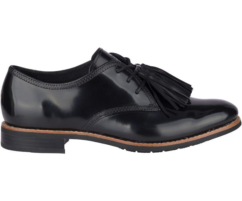 Fairpoint Tassel Leather Oxford, Black, dynamic