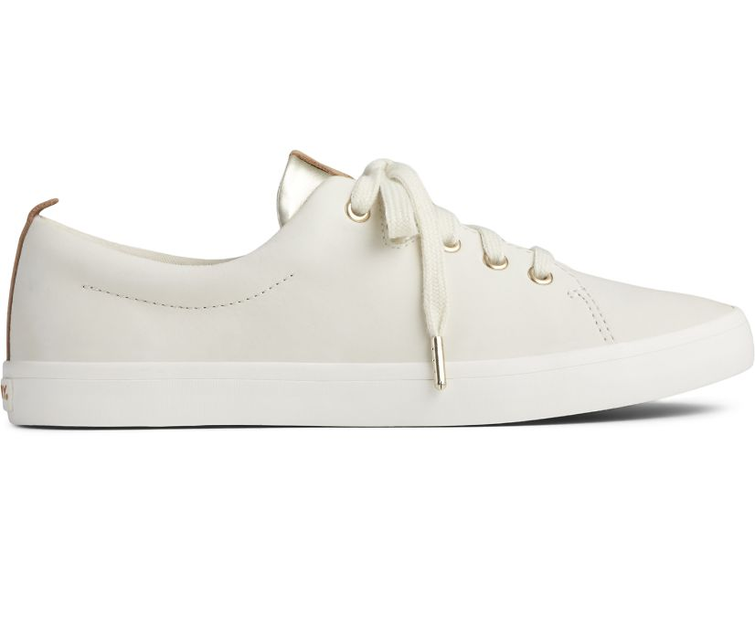 Sailor Leather Sneaker, Ivory, dynamic